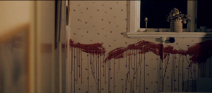 Blood splattered walls from Swedish Horror film Wither