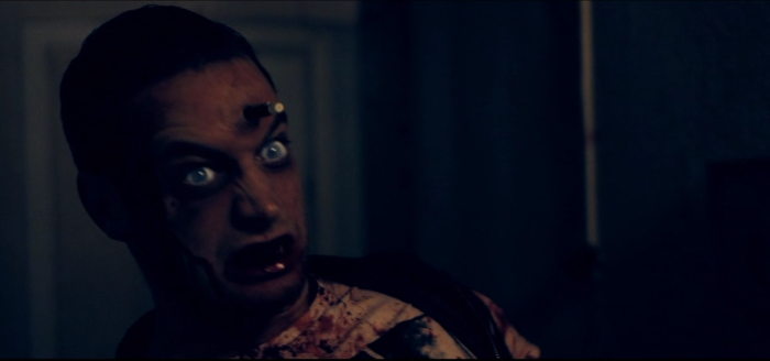 glowing eyes zombie head from Swedish DVD review Wither