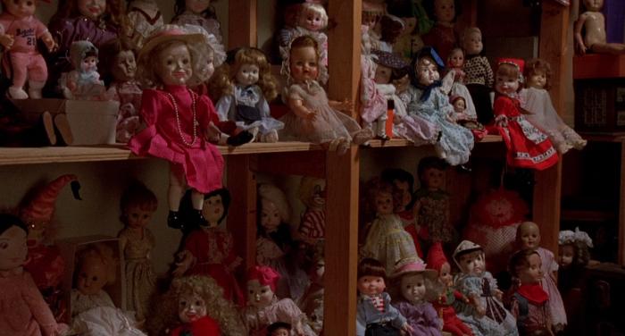 Evil little dolls from horror film Dolls (1987)