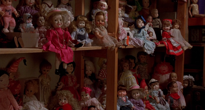 Evil little dolls from horror film Dolls (1987)