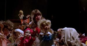 UK Blu-ray review of Dolls (1987) creepy killer dolls go wild in Stuart Gordon classic horror