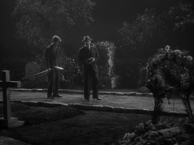 The Mad Ghoul (1943) UK DVD Graveyard Shot