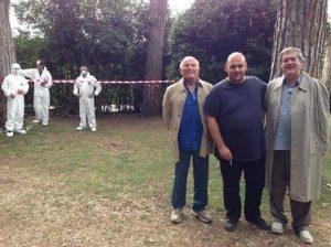 Director Luigi Pastore with Enzo G. Castellari and Luigi Cozzi