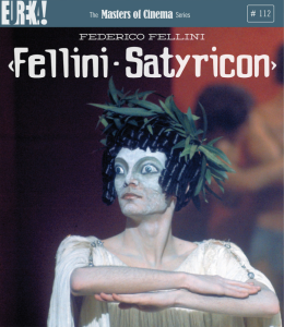 fellini satyricon blu ray cover